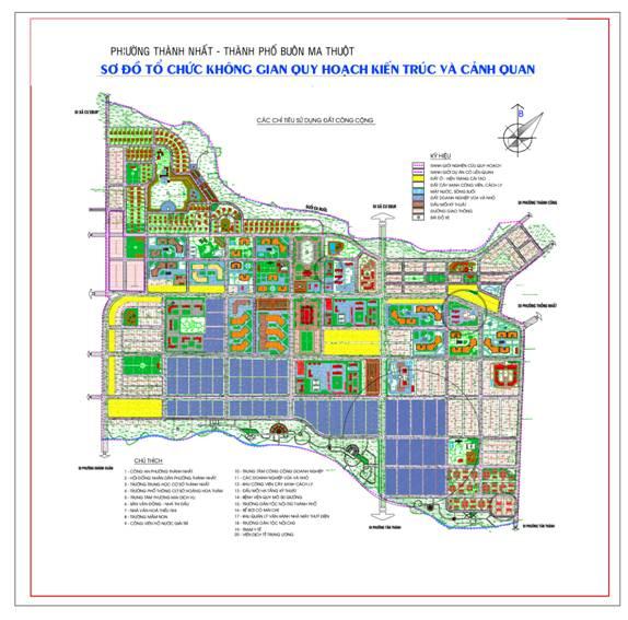 Quy hoạch chi tiết trung tâm phường Thành Nhất, Tân Lợi , Khánh Xuân, Tân Tiến, thành phố BMT