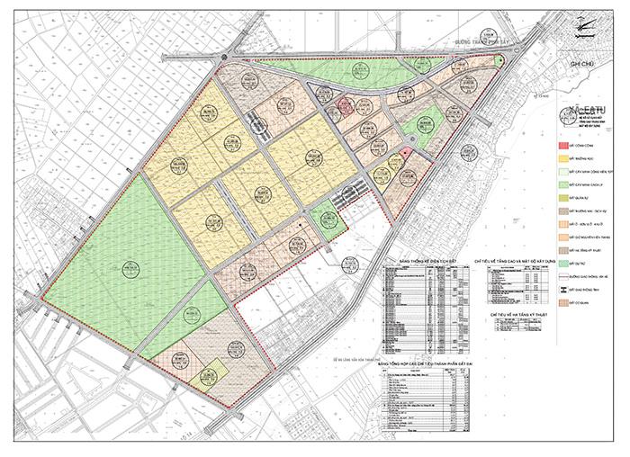 Bản đồ quy hoạch sử dụng đất Khu đô thị mới Km7 -phường Tân An - thành phố Buôn Ma Thuột