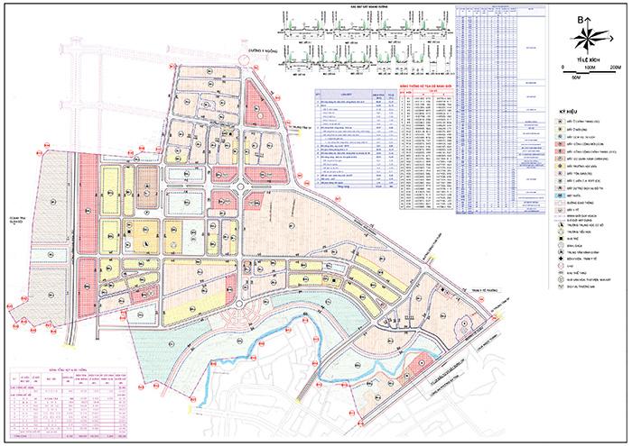 Bản đồ quy hoạch sử dụng đất Khu đô thị Tây Tân Thành, phường Tân Thành, thành phố Buôn Ma Thuột